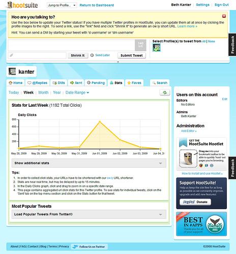 HootSuite Twitter Client Screenshot