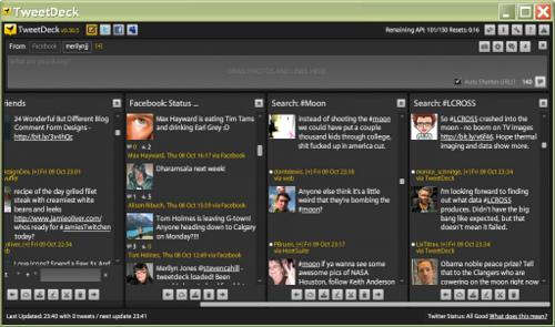 TweetDeck Twitter Client Screenshot