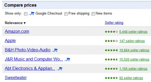 Google Checkout Badge: Product Search (Base)