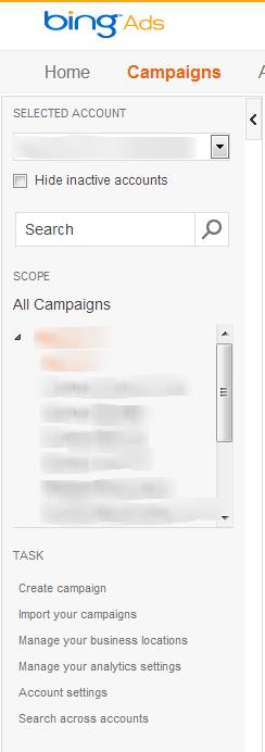 Bing Ads Sidebar