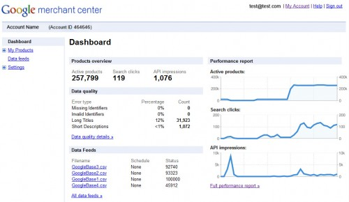 Google-Merchant-Center-Dashboard