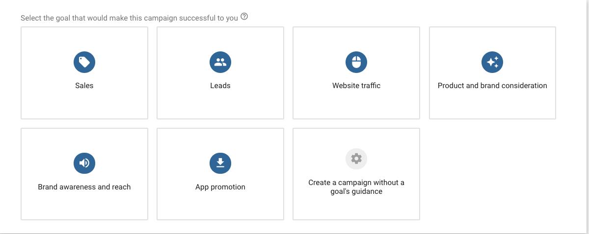 Google Ads Goals